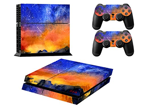 Stillshine-Star-Night-Sky-Skin-autocollant-pour-PS4-Sony-et-2-manettes-de-Console-meteor
