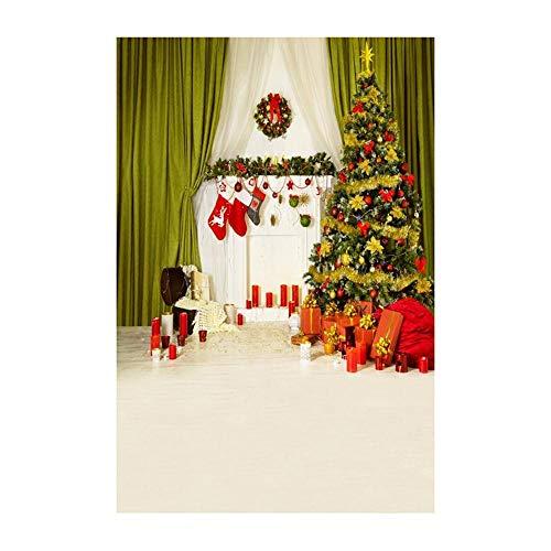 ODJOY-FAN Weihnachten Hintergrund Tuch, Schneemann Hintergründe Vinyl 3x5FT Laterne Hintergrund Studio 3D Fotografie Hintergrund Hintergrund Fotostudio (90x150cm) (G,1 PC)