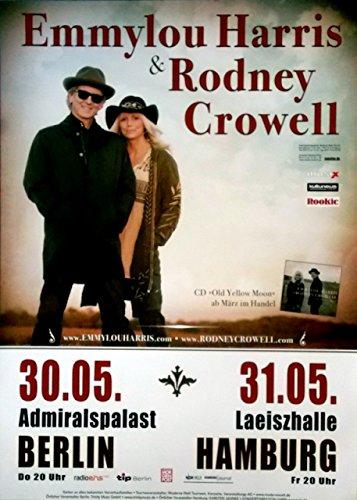 Preisvergleich Produktbild HARRIS, EMMYLOU - RODNEY CROWELL - 2013 - Konzertplakat - Old Yellow Moon