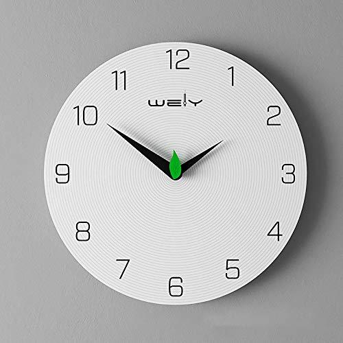 r für Wohnzimmer 30 cm Moderne Wanduhr Handgemachte Ziffer Dekorative Keine Ticking Weiß Runde Uhren Dekoration für Wohnzimmer Restaurant Büro Bar, B ()