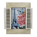 PrimoLiving Sehr schöner Bilderrahmen mit weißen Fensterladen Antik Shabby Look
