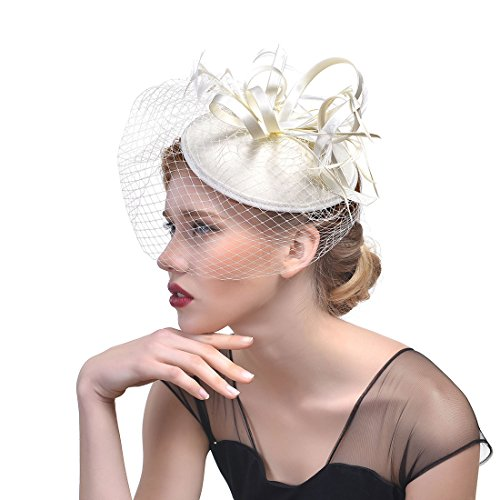 xwanli Fascinator Haar Clip Haar Accessoire Tea Party Hochzeitskirche Kopfbedeckung für Frauen