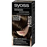 Syoss dauerhafte Coloration/Paris Brown/Stufe 3/mit farbintensiver Pigmentmischung& Pro-Cellium Keratin/4-98/professionelle Grauabdeckung
