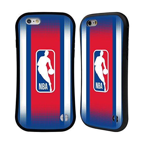 Ufficiale NBA Banner Logoman Case Ibrida per Apple iPhone 6 Plus / 6s Plus Gradiente Mezzotono
