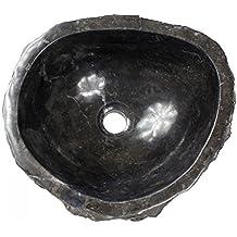 45 Marmorwaschbecken Waschbecken Stein Aufsatzwaschbecken Beige Marmor 38cm Nr
