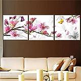 KING DO WAY 3Pcs pittura a olio della pittura del fiore stampato pittura a olio su tela di canapa casa Arte Immagine 30x30cm