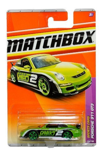 Mattel Year 2010 Matchbox MBX Sports Cars Series 1:64 Scale Die Cast Car #12 - Metallic Green Color High Performance Luxury Sport Coupe PORSCHE 911 GT3 (T8919) by Matchbox (Scale 1 12 Diecast)