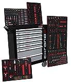 Chariot à outils Chrono XL - 7 tiroirs dont 6 garnis d'outils - Embouts, clés à cliquets, clés et bien d'autres choses encore