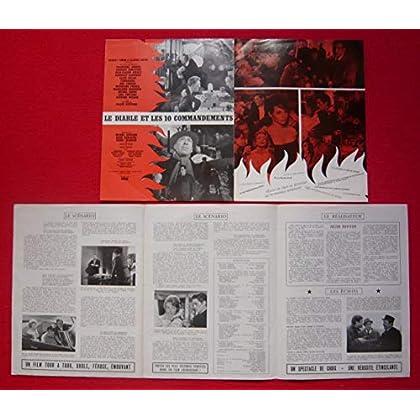 Dossier de presse de Le diable et les 10 commandements (1962) – Film de Duvivier avec C Aznavour, A Delon – Photos N&B + résumé scénario – Bon état.