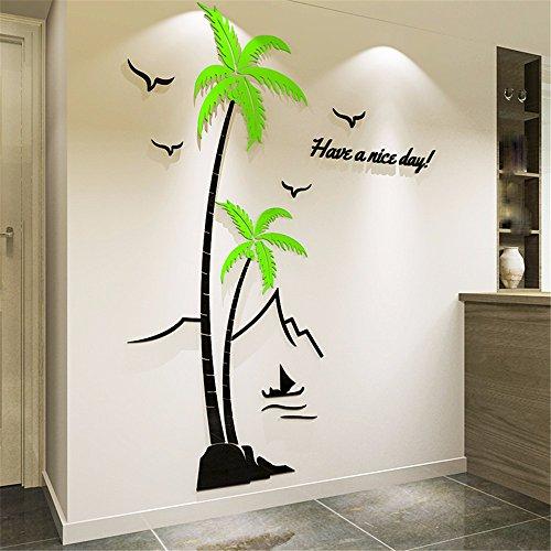 alme Acryl Kristall 3D 3D Wandaufkleber Esszimmer Schlafzimmer Sofa Tv Wand Dekoration,Auf Der Linken Seite,14*180Cm ()
