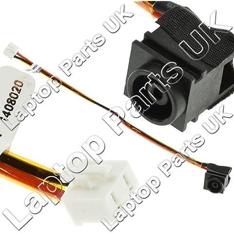 SONY Vaio VGN-NR series DC Power Jack, Conector de Alimentación, Enchufe, Conector de puerto con el cable p/n: 073-0001-3775-A