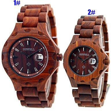 Beautiful Watches, Vintage Wood Watch, Mens Watch, Womens Wood Watches, Wooden Quartz Watches,Solar Watch,Gift Idea Wrist Watch Cool Watch Unique Watch (Color : Brown, Gender : For Lady)
