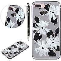 iPhone 7 Plus Hülle,SainCat Farbe Blume Muster Hülle Weiche TPU Rahmen mit Hartem PC Rückdeckel Handyhülle mit... preisvergleich bei billige-tabletten.eu