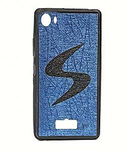 Exclusive Rubberised Back Case Cover For Micromax Canvas Nitro 2 E311 - Blue With Black