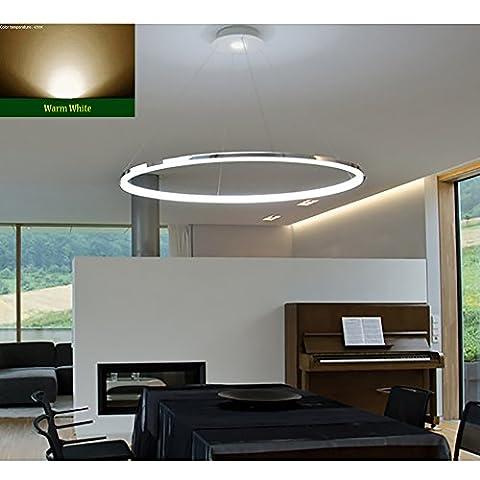 """Saint Mossi Exklusives Design Modernes Rundschreiben Led Kronleuchter Verstellbares Hängelicht Tania Collection Modernes Decken-Pendelleuchte H55 """"X D23.6"""" Mit Warm White Light Source"""