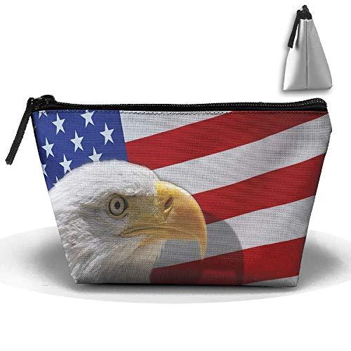 USA Eagle Portable Make-up erhalten Tasche Speicherkapazität Taschen für die Reise mit hängendem Reißverschluss