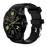 KDSFJIKUYB Smartwatch 3G Smartwatch Android OS MTK6572A 4 GB ROM Telefon Smart Clock Bluetooth GPS Smart Uhr für iOS Apple iPhone Phone, schwarz, Standard