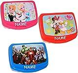 alles-meine.de GmbH Lunchbox / Brotdose -  Disney die Eiskönigin - Frozen  - incl. Name - großes Fach - SUPERLEICHT - Brotbüchse Küche Essen - aus Kunststoff - für Mädchen - Ki..