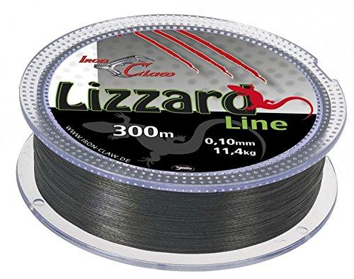 Iron Claw Lizzard Line grau (300m), Durchmesser:0.04mm