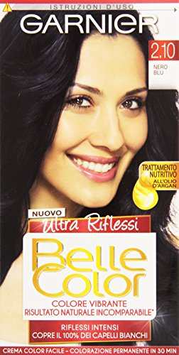 Garnier Garnier Belle Color Ultra Riflessi Colorazione Permanente, 2.10 Nero Blu