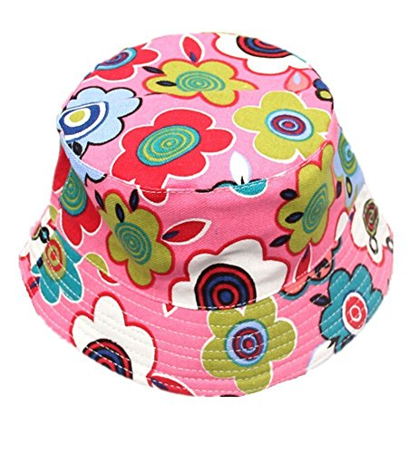 TININNA Enfants Motif Floral Seau Chapeaux Chapeau de Dessin Animé d'été Casque de Protection UV Casquette Bébé Fille Garçon Chapeau de Soleil d'été Disquette Chapeau Poisson Chapeau Pêcheur #19