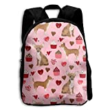best& Valentines Cute CEANakes Chihuahua Vintage College Backpack Student School Bookbag Rucksack Travel Daypack