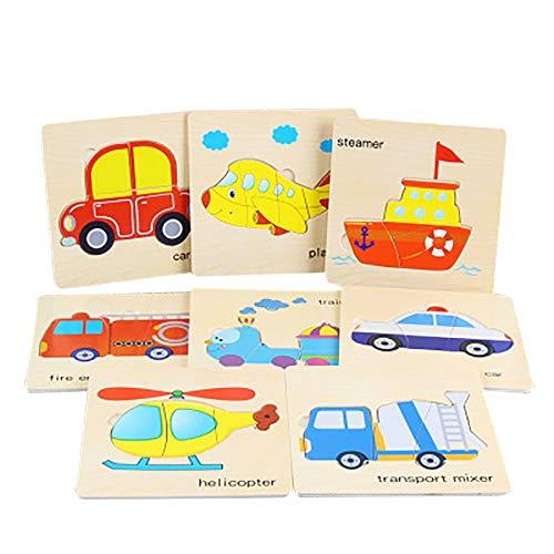 Wascoo Kinderspielzeug,Puzzle Spielzeug Kindertag 8 stücke Holz Tier Puzzle pädagogische entwicklung Baby Kinder Ausbildung Spielzeug