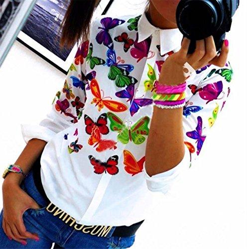 LHWY-Donne-Farfalla-in-Chiffon-Top-manica-lunga-camicia-camicetta-Casual-L-A