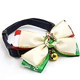 sourcingmap Feliz Navidad Regalo decoración floral gato ajustable Collar de perro mascota lazo w & campana