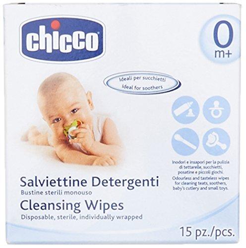 Chicco Sterile Reinigungstücher für unterwegs, einzlen hygienisch verpackt, 15 Stück - 2