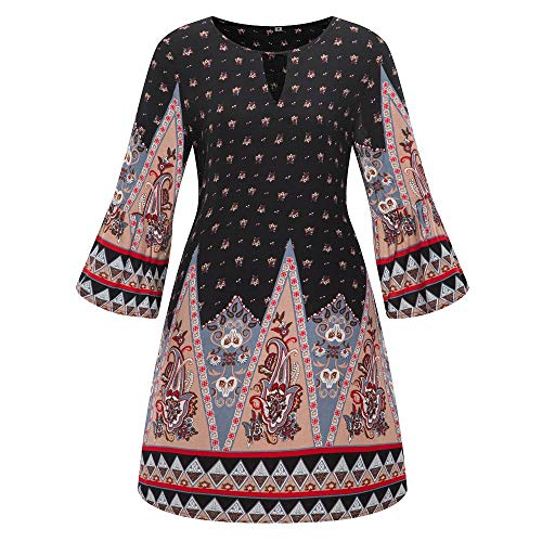 ng Sommer Rock Bequem Lässig Mode Kleider Frauen Röcke Große Größe Frauen Casual Langarm Minikleid Abend Partykleid ()