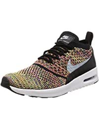 Nike Air Max Thea Ultra Flyknit - Zapatillas de Textil para mujer Bright Crimson / Wolf Grey / Black / White 7 UK / 9.5 US