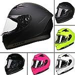 *2018 NEW STYLE* Leopard LEO-813 Full Face Motorbike Motorcycle Crash Helmet Road Legal - Matt Black M (57-58cm)