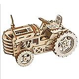 OIURV 3D DIY Holz Puzzle Montieren Holzspielzeug Holzpuzzle Set für Kinder Jugendliche Erwachsene - (Traktor)