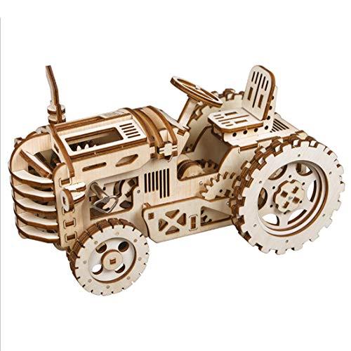 DAN DISCOUNTS Hölzerne Mechanische 3D Puzzle Mechanische Modell Traktor Form DIY Montieren Stem Spielzeug Für Erwachsene und Kinder