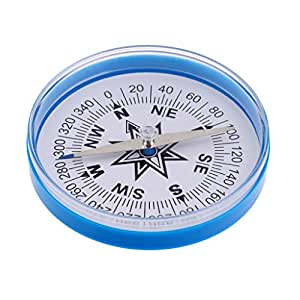 Segolike Handheld Large Compass 4-Inch Dia. with a Clear Plastic Top