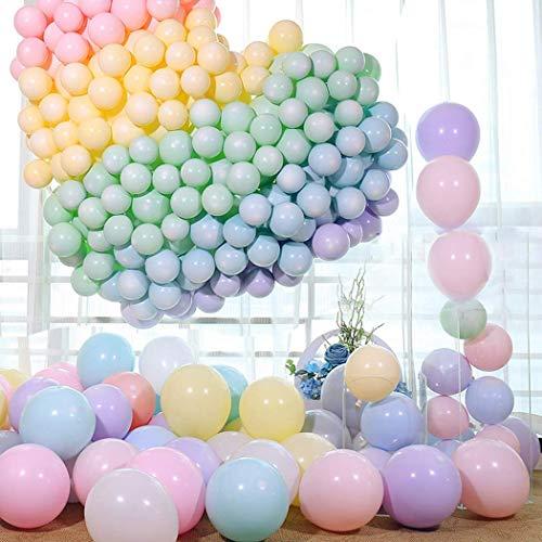 Qyy 100 pezzi palloncini pastello macarons palloncini in lattice per feste per compleanno matrimonio festa di laurea natale baby shower