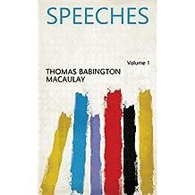 Speeches Volume 1