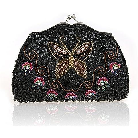 TBQING Nuova borsa a mano perline farfalla fiore borse party dress borse da sera borsa frizione borsa borsa borsa
