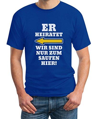 JGA Kombi Shirt - Links, Er Heiratet Wir -