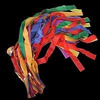 12Pcs Hand Held Dance Rainbow Ribbon Toys for Children-Random Color