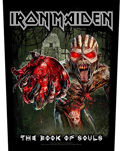 Iron Maiden Backpatch Book Of Souls Band Logo Eddie Heart Ufficiale 36Cm X 29Cm