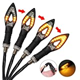 Blinker Licht 4 Stück LED wasserdichte Blinker Lampe Mini Bernstein Indikatoren für Motorrad Motorrad