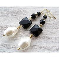 Orecchini con perle bianche baro