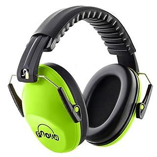 Casque Antibruit Enfant, Fnova Manchons d'oreille Ear Protection avec NRR 26dB, Casque de réduction du Bruit Protection Auditive, Certifié par ANSI S3.19(Vert)