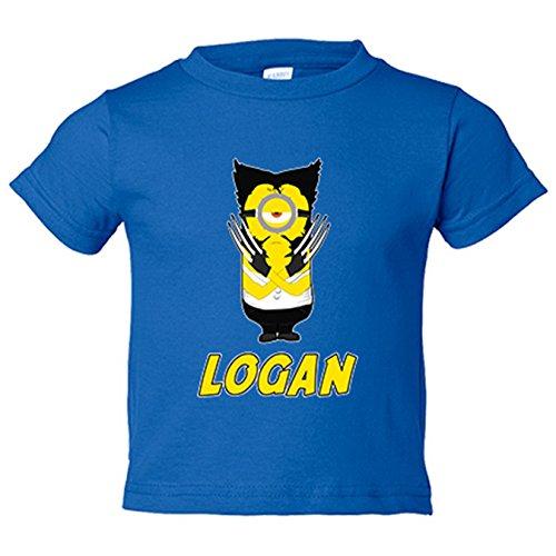 Camiseta niño X Men Lobezno Logan Minion - Azul Royal, 12-18 meses