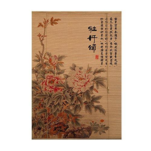 WUFENG Bambus Vorhang Chinesisch-japanischer Stil Schattierung Isolierung Rolltor Schlafzimmer Abgeschnitten Balkon Tee Raum Türvorhang (Farbe : D, größe : 50x180cm)