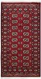 Nain Trading Pakistan Buchara 2ply 182x99 Orientteppich Teppich Läufer Rost/Lila Handgeknüpft Pakistan