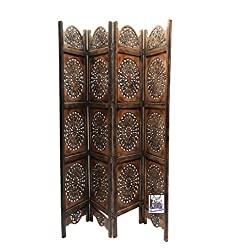 National Handicrafts 72 x 80 Mango Wood & MDF Sun Desyn Screen Partition / Room Divider