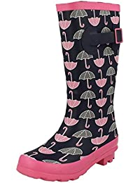 Abrienna diseño de chicas Clarks Inf para máquina de corte Cricut las botas de agua sintética para rosa neT6t1GP8h